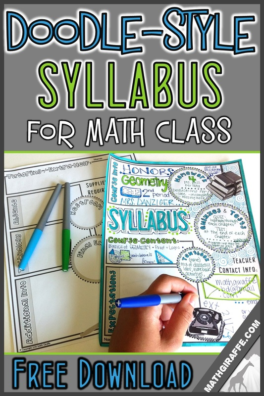 Syllabus for Math Class (Doodle-Style!)