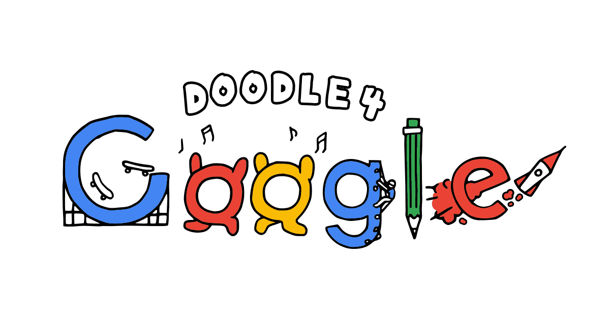 Check out the artwork on Doodle 4 Google.