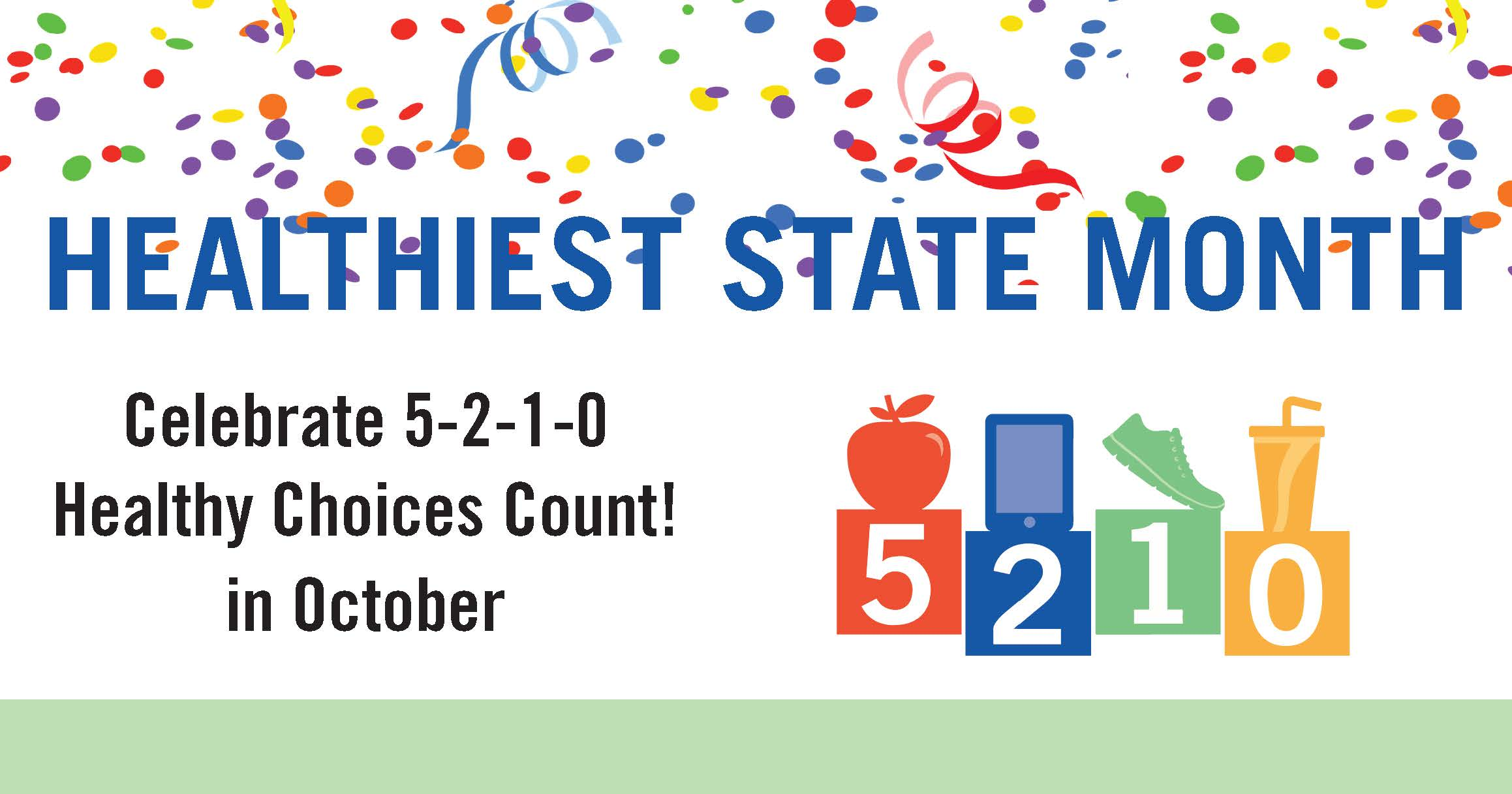 Celebrate Healthiest State Month in October