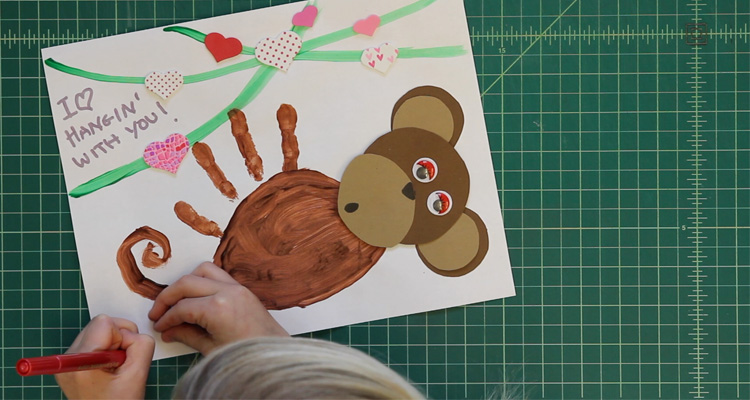 DIY Monkey Valentine's Day Card (VIDEO) - Learning Liftoff