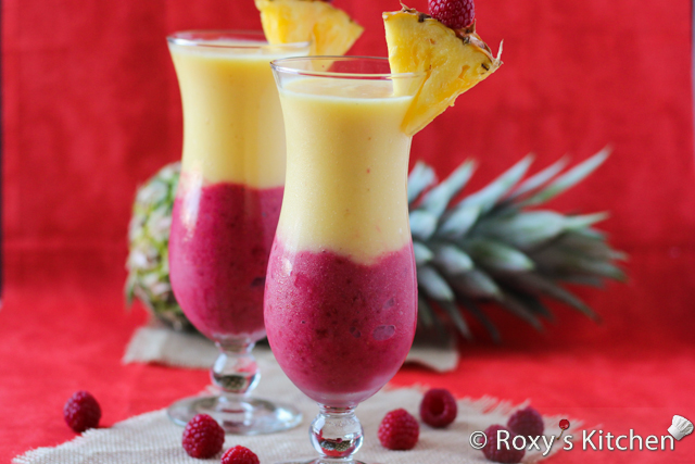 4-Ingredient Creamy Pineapple Berry Smoothie - Roxy's Kitchen