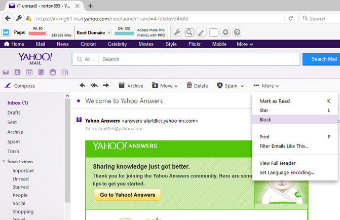 Yahoo mail: Updates in desktop version of yahoo mail to keep updated with your inbox.