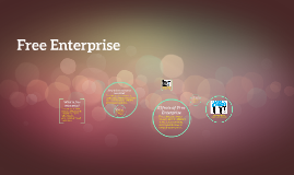What is free enterprise?