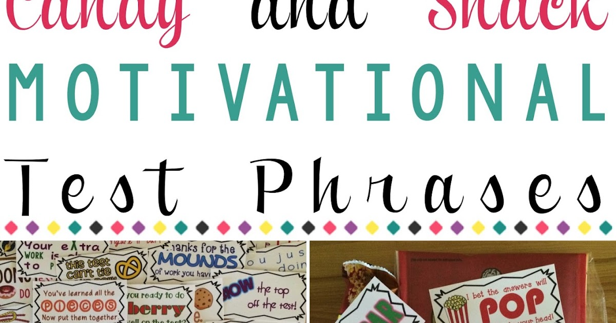 Literacy Spark: Candy & Snack Motivational Test Phrases