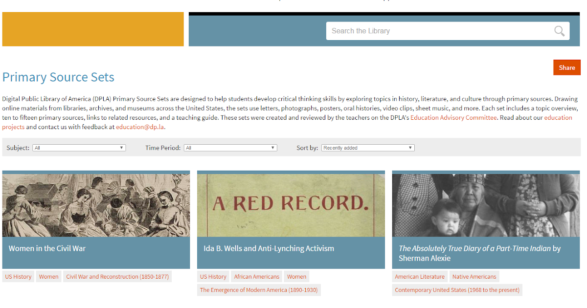 Free Technology for Teachers: More Than 100 Sets of Primary Source Documents for Students