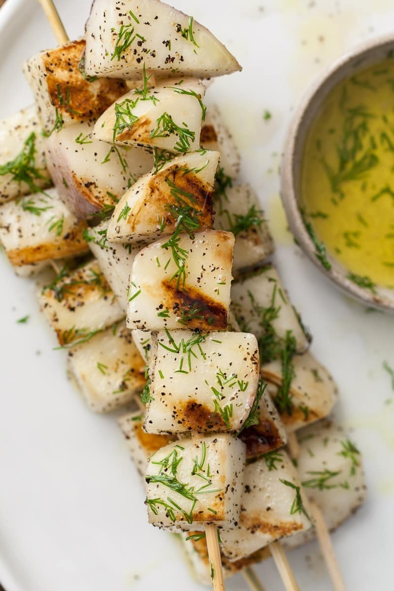 Grilled Turnips with Dill Olive Oil | Naturally.