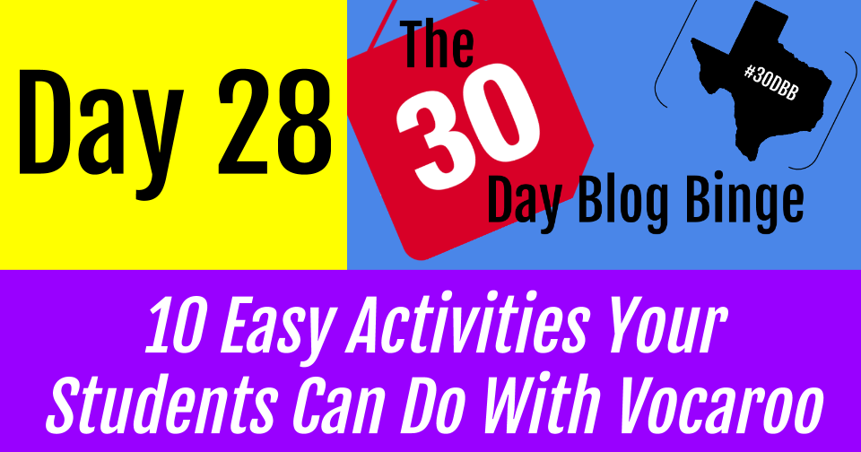10 Easy Activities Your Students Can Do With Vocaroo | #30DBB - Day 28