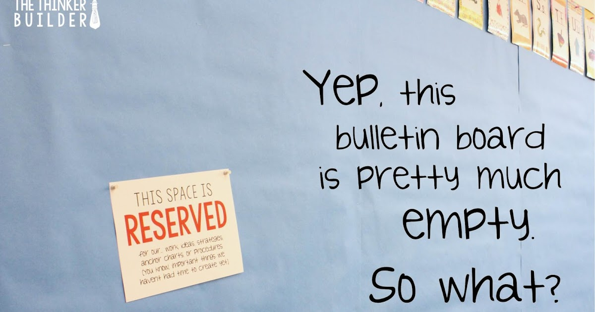 """Reserved"" Signs: A Bulletin Board Stress Reliever"