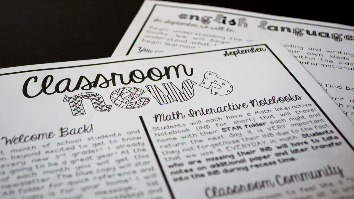 Classroom Newsletters & Their Importance