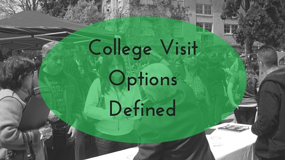 College visit options defined