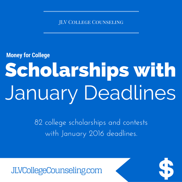 Scholarships with January 2016 deadlines