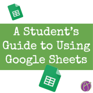A Student's Guide to Using Google Sheets - Teacher Tech