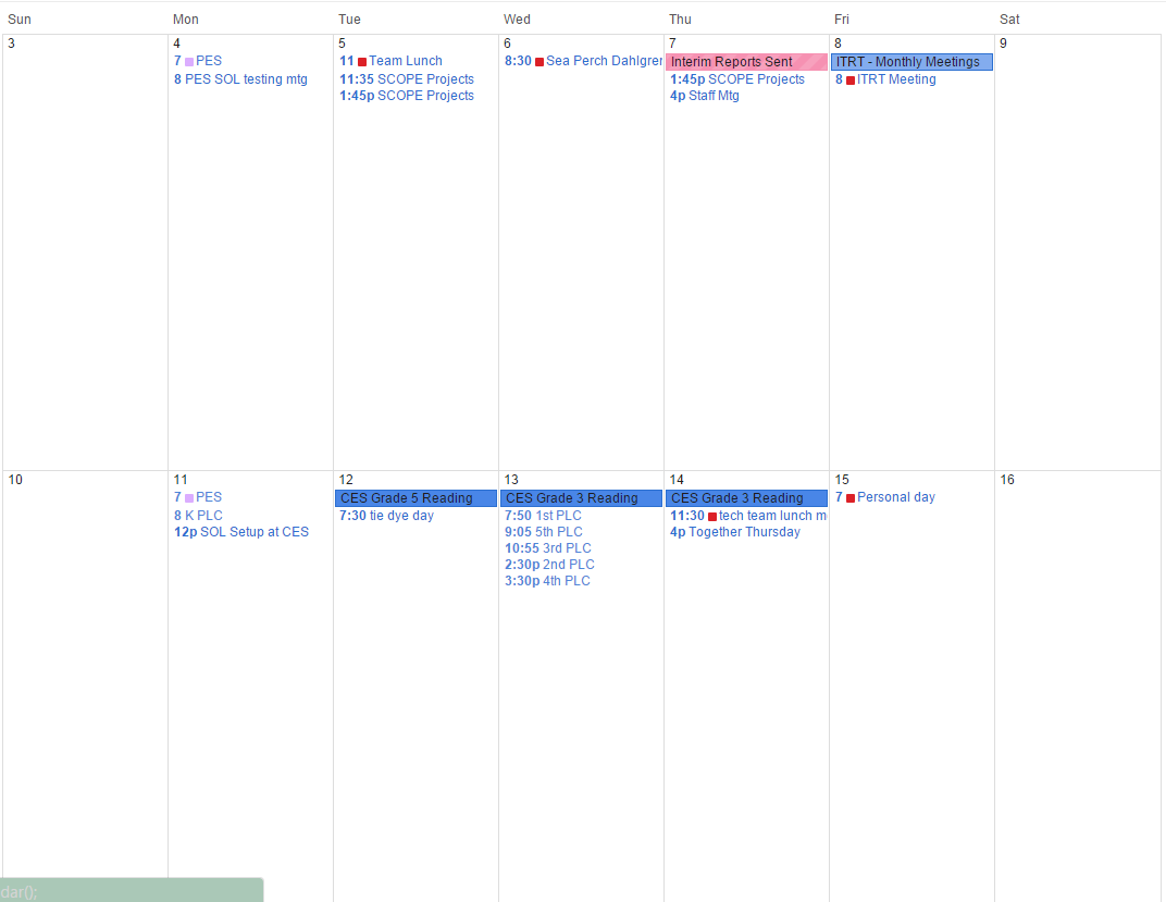 Google Calendar Custom Views