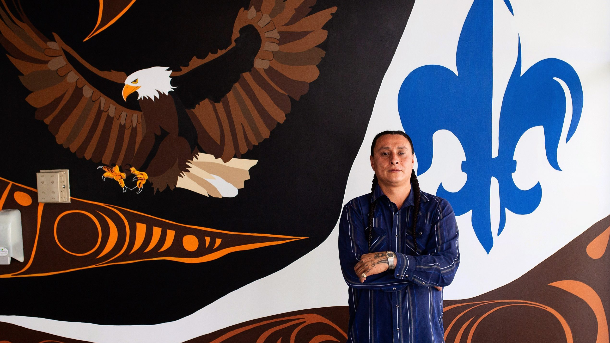 Indigenous artist finds healing with murals at Alberta Catholic schools