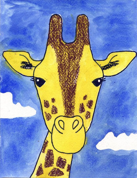 How to Draw a Giraffe · Art Projects for Kids