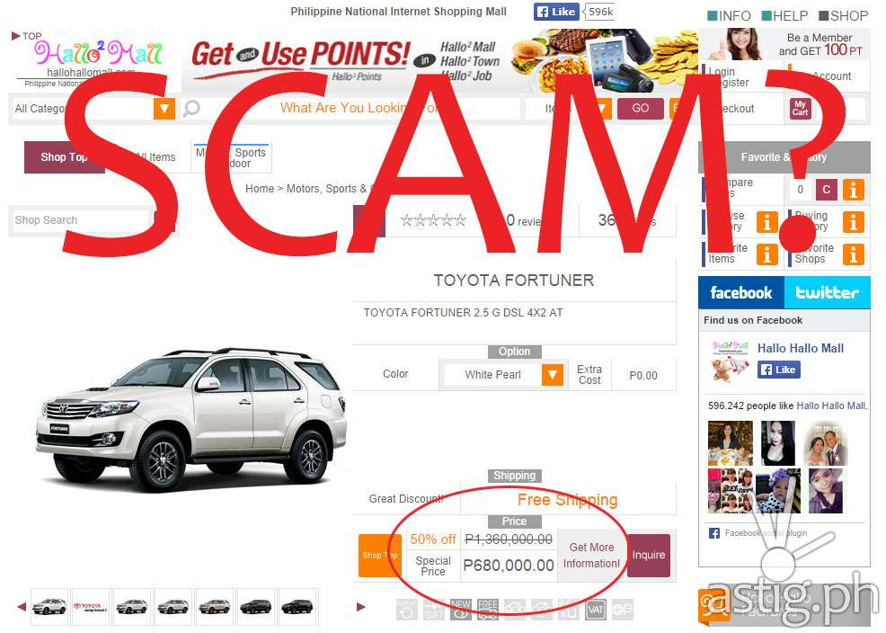 Online store sells brand new cars at 50% off - SCAM / FAKE? - ASTIG.PH