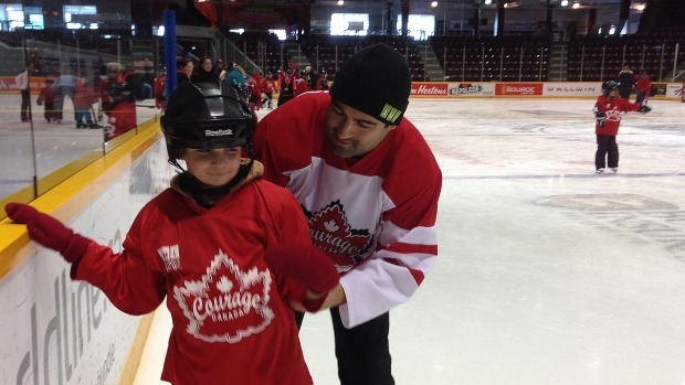 Courageous kids hit the ice in special skate at BMC