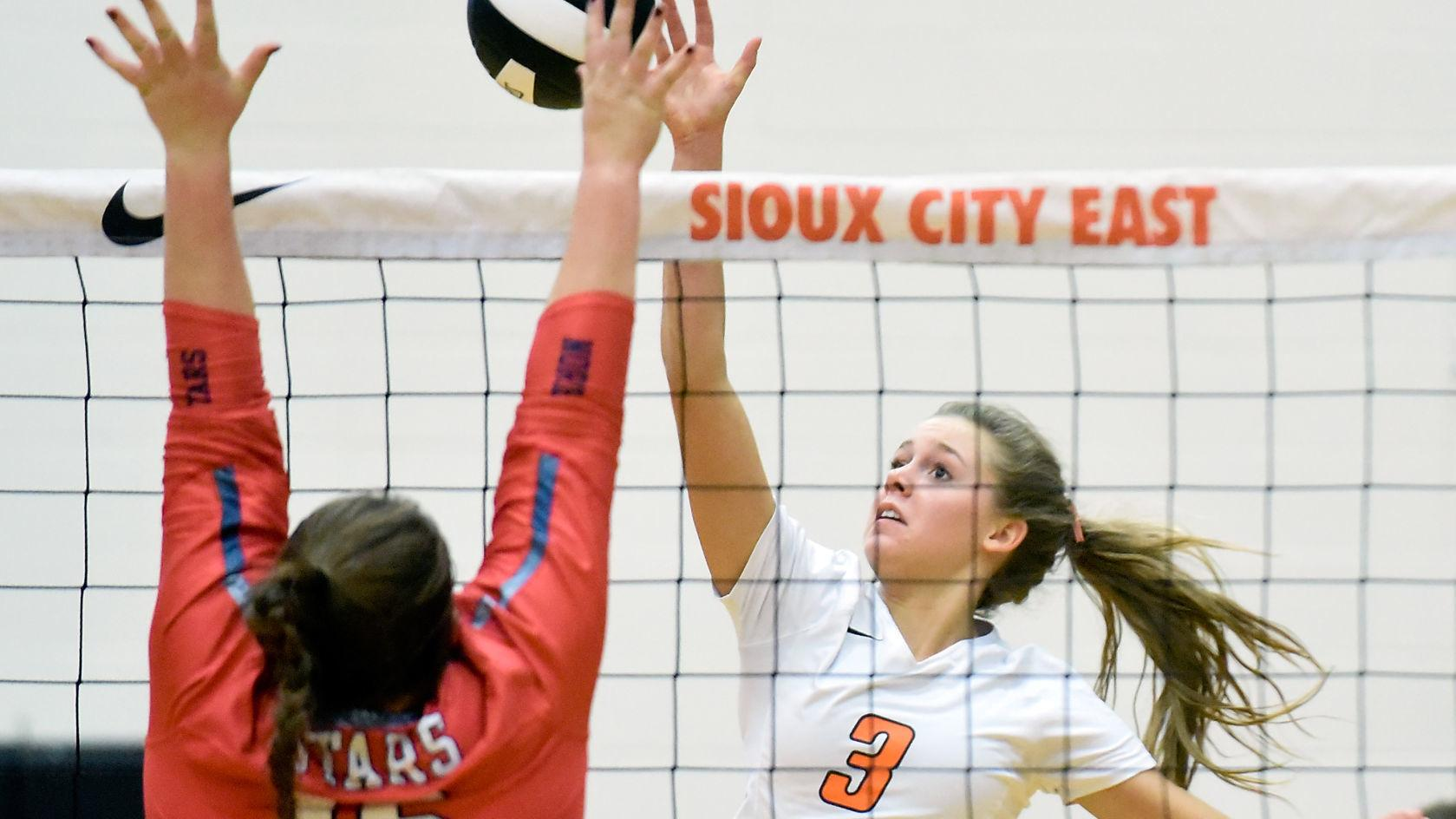Photos: Sioux City North at Sioux City East Volleyball