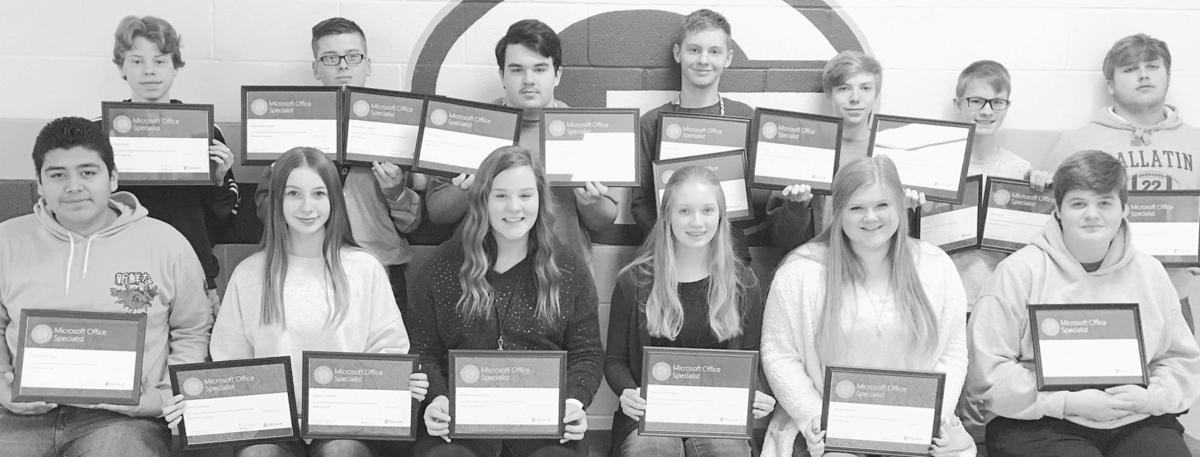 GHS students obtain certification in Microsoft Office