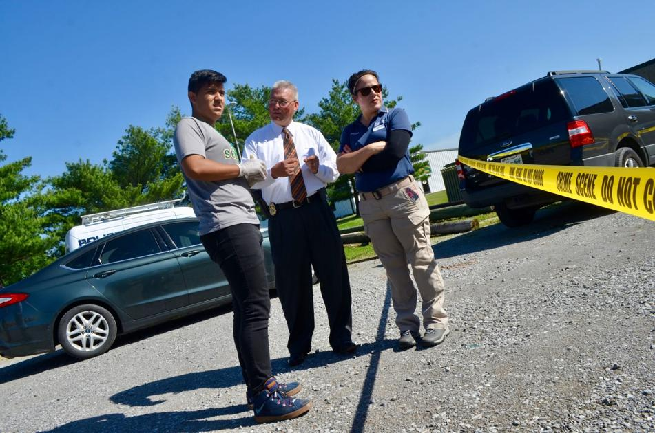 High school students investigate fictional crime
