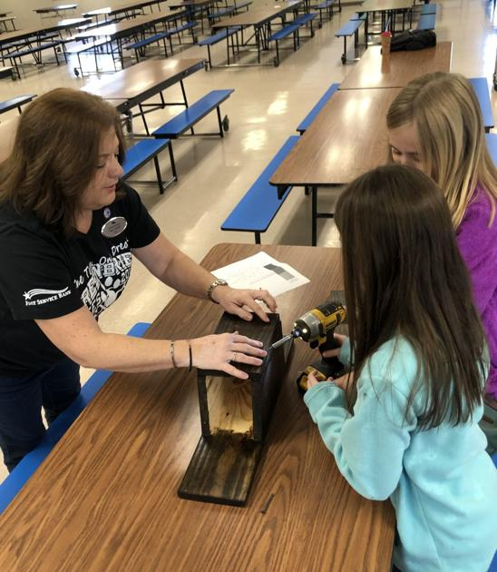 Woodworking club showcases bird houses for new park