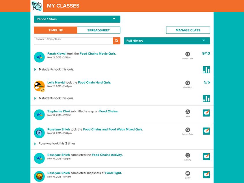 Tracking Student Activity with My BrainPOP | BrainPOP Educators