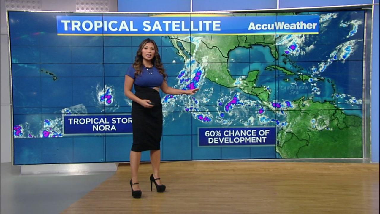 Tropical Storm Nora heading into the Central Pacific