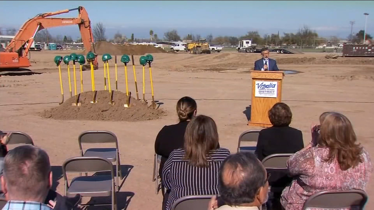 Visalia Unified School District starts building new campus for alternative high school