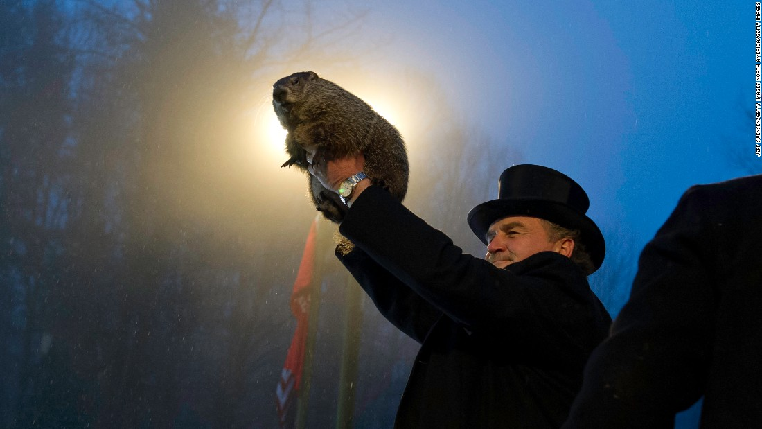 The groundhog hath spoken! Welcome to six more weeks of winter