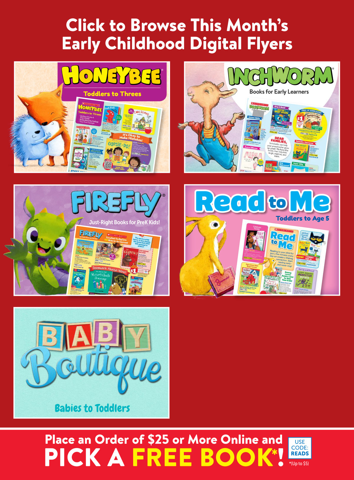 Scholastic Book Clubs: All Digital Flyers for Preschool September