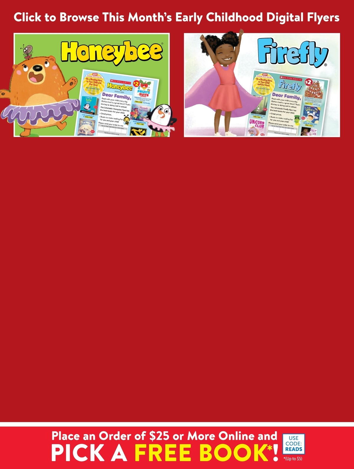 Scholastic Book Clubs: All Digital Flyers for Preschool March