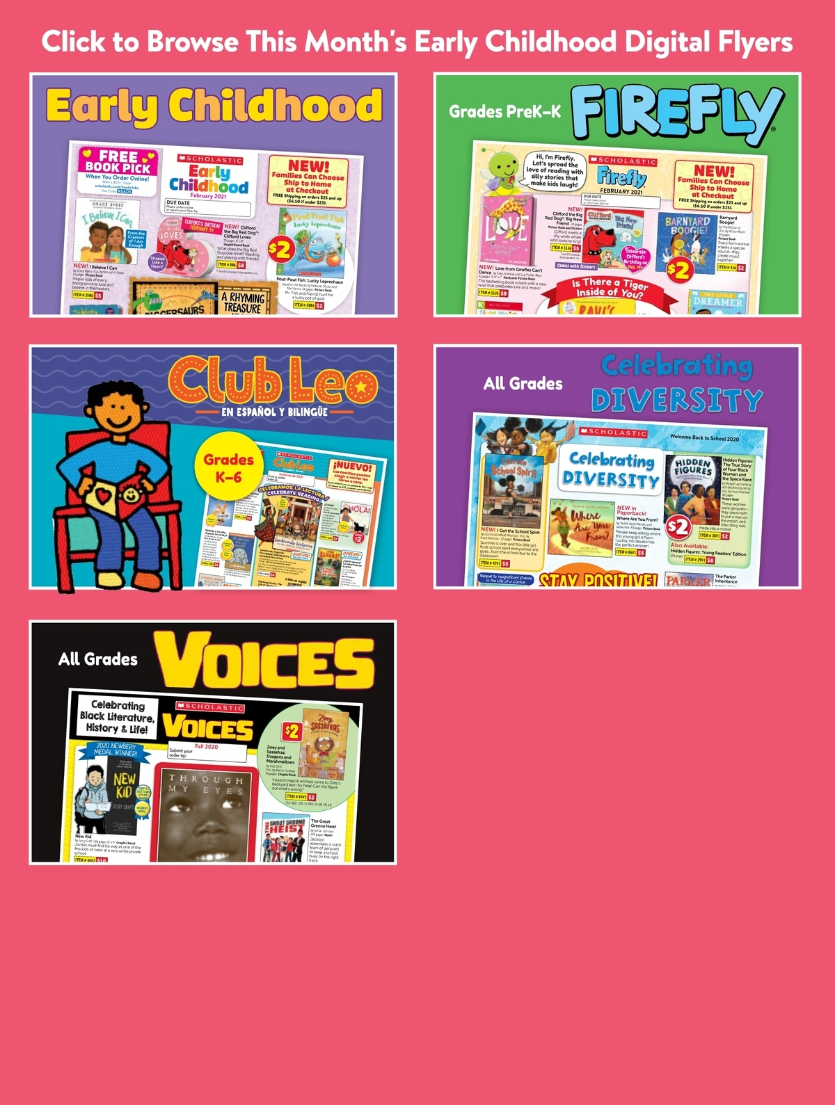 Scholastic Book Clubs: All Digital Flyers for Preschool February 2021