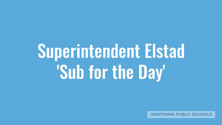 Elstad Sub For a Day 2