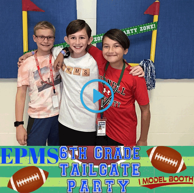EPMS 6th Grade Tailgate Party 2019 IModelBooth