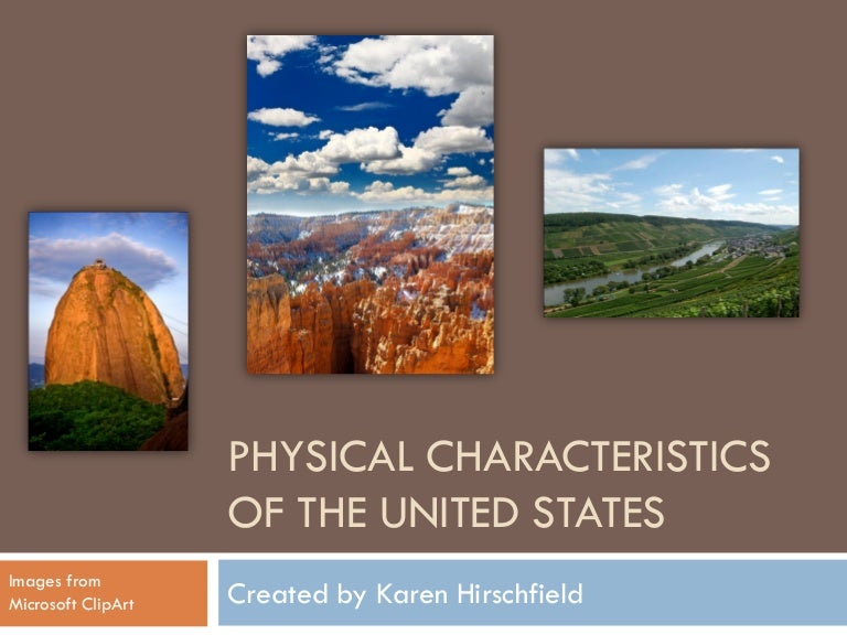 Physical characteristics of the United States power point