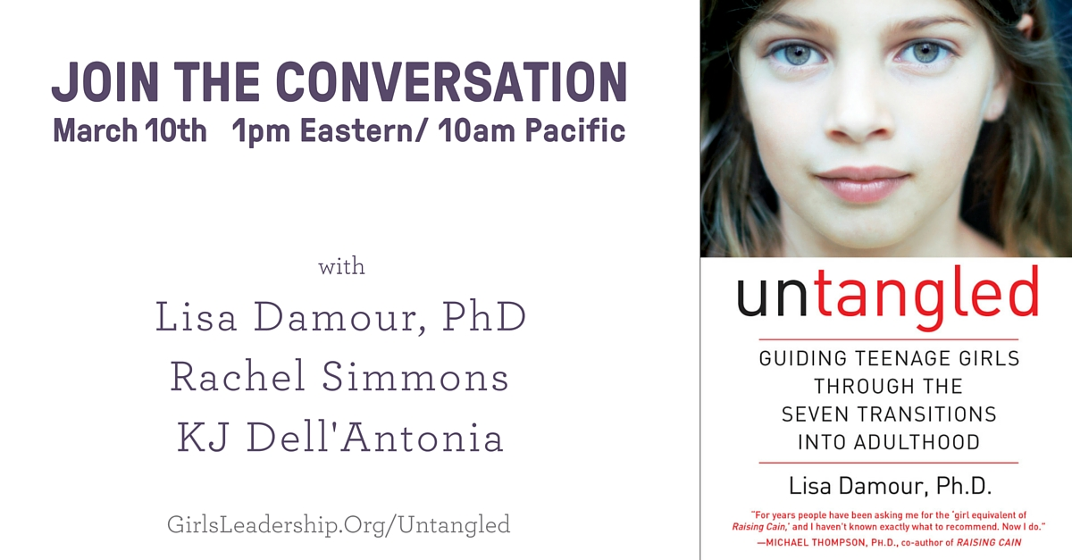 Twitter Chat Conversation with Author, Lisa Damour, Ph.D. on Raising Teenage Girls