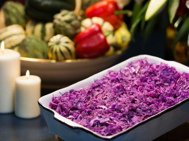 Fried Purple Cabbage