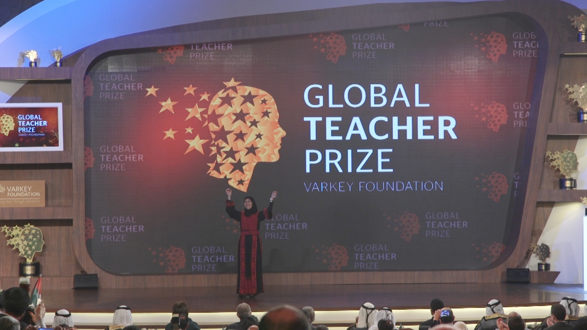 Palestinian teacher Hanan Al Hroub wins $1m Global Teacher Prize 2016