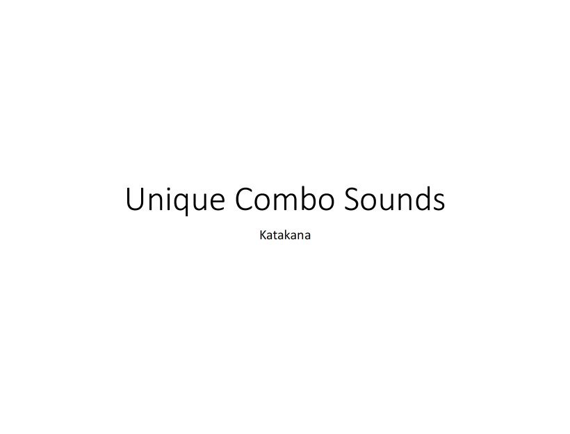Unique Combo Sounds