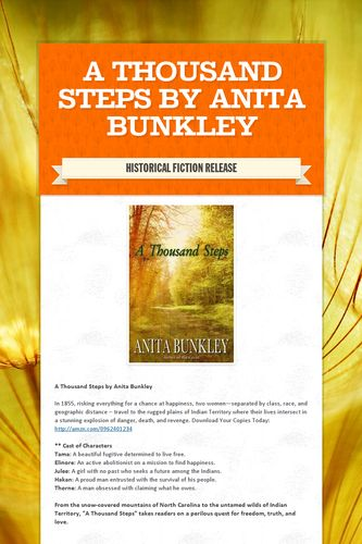 A Thousand Steps by Anita Bunkley