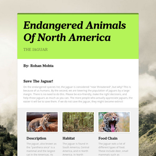 Endangered Animals Of North America
