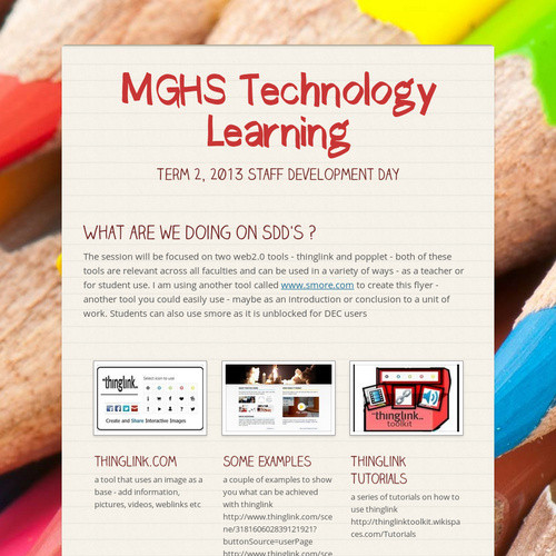 MGHS Technology Learning