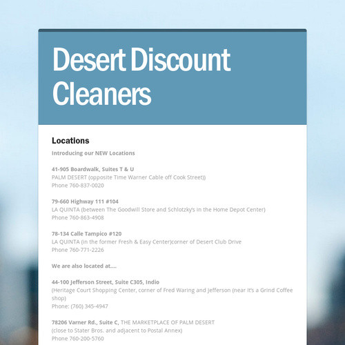 Desert Discount Cleaners