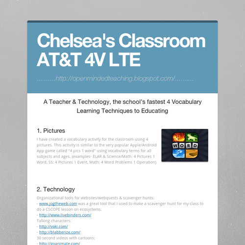 Chelsea's Classroom AT&T 4V LTE