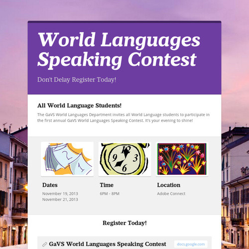World Languages Speaking Contest