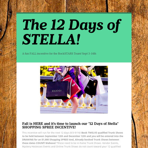 The 12 Days of STELLA!