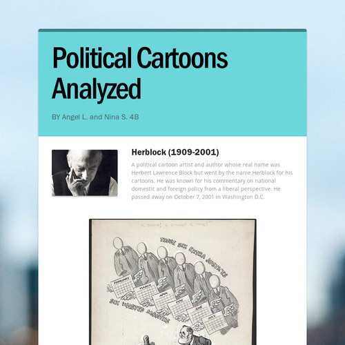 Political Cartoons Analyzed