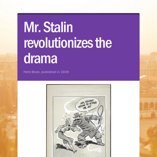 Mr. Stalin revolutionizes the drama