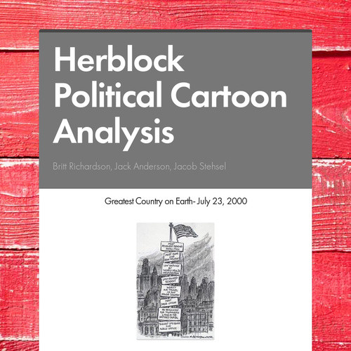 Herblock Political Cartoon Analysis