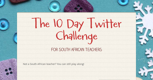 The 10 Day Twitter Challenge